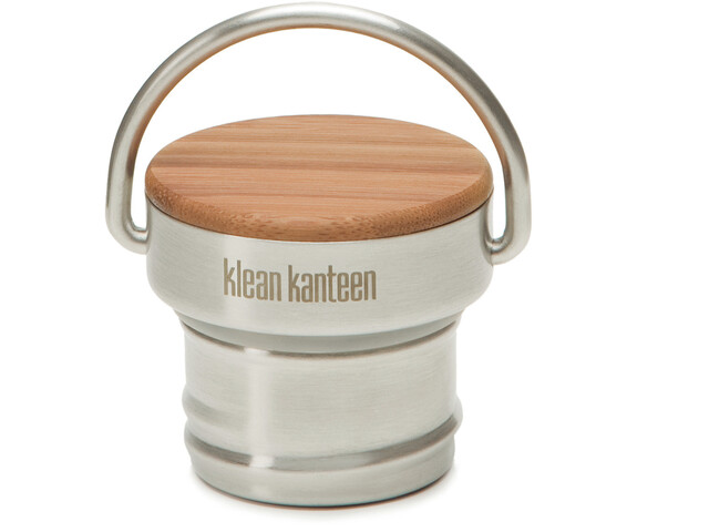 Klean Kanteen Bamboo Cap til Classic-flasker, brushed stainless